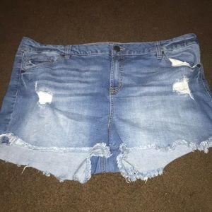 Size 20 refuge jean cut off shorts